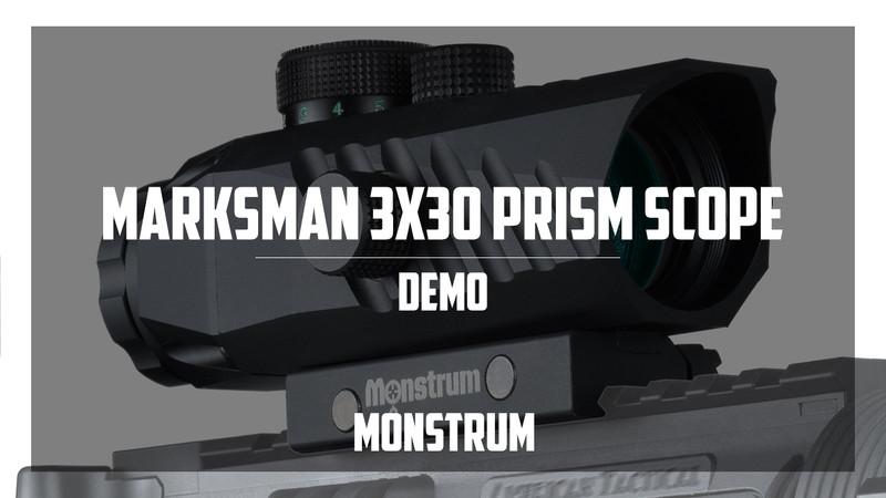 Marksman 3x30 Prism Scope Shooting Demo