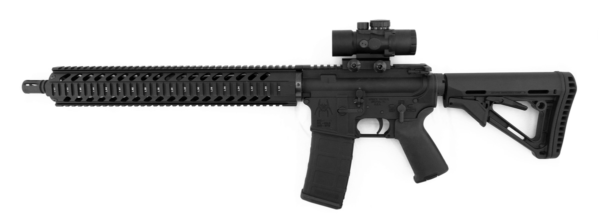 Monstrum Tactical S330P Prism Scope on AR-15 Rifle