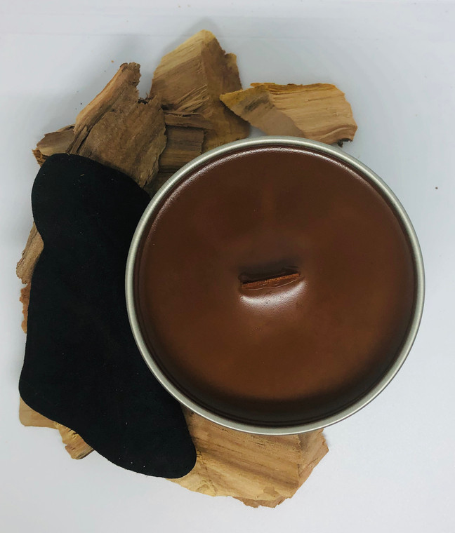 Wood Wick Candle Tin - Suede
