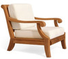Stunning teak outdoor club chair.