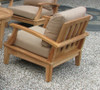 (7pc) JANDIS TEAK DEEP SEAT CLUB SET