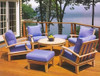 (5pc) JANDIS TEAK DEEP SEAT CLUB SET