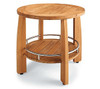 TEAK ROUND SHOWER STOOL