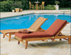 Kuta Chaise Lounger - All Solid Teak