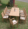 11pc Teak Cypress Dining Set.