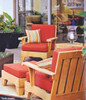 (6pc) MOREA TEAK DEEP SEAT SET - out of stock