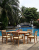 7pc teak dining set with rectangle table