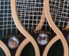Z SPORTS ART - GIANT WOOD TENNIS RACQUET DECO - 5' Tall