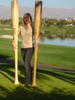 Z SPORTS ART - (RECONDITIONED) GIANT WOOD BASEBALL BAT DECO - 6' TALL