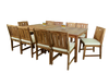 KONA TEAK DINING SET - 10 seat + FREE GIFT