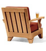 (8pc) MOREA TEAK DEEP SEAT & CHAISE SET - out of stock