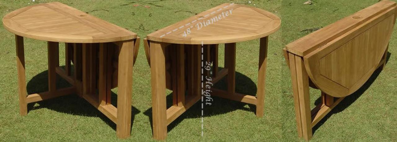 Sonoma Teak Patio Set Folding Table Woodjoyteak Com