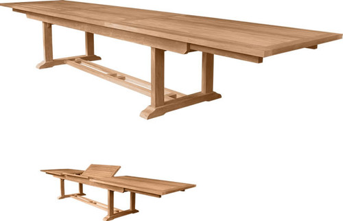 The Largest Teak Outdoor Dining Table.