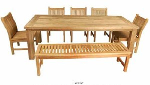 WILMINGTON TEAK DINING SET - IV - out of stock