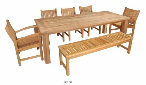 WILMINGTON TEAK DINING SET - III - out of stock