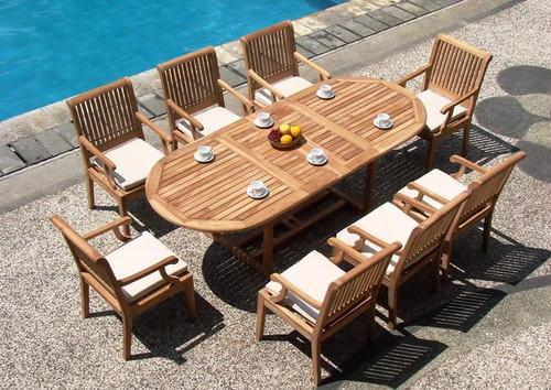 KODRA TEAK DINING SET (8 seat) - I