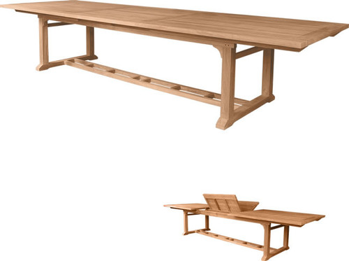 The second largest teak outdoor table.