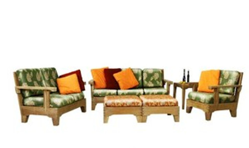 (6pc) S&H TEAK DEEP SEAT SET