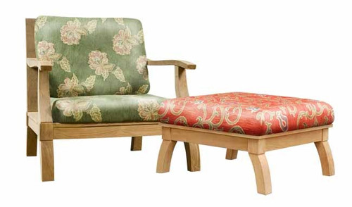 Awesome teak club chair and ottoman.