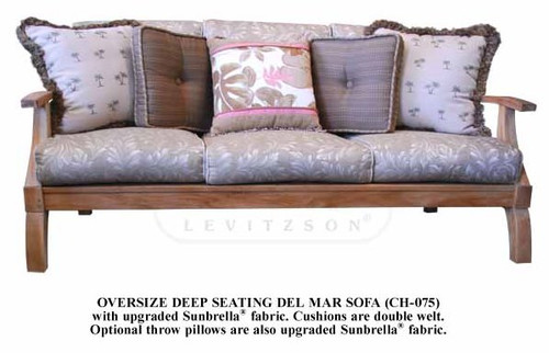 DEL MAR TEAK SOFA 3-SEATER