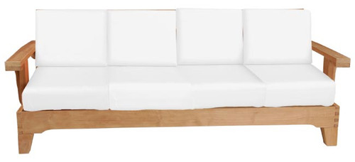 S&H TEAK DEEP SOFA 4-SEATER