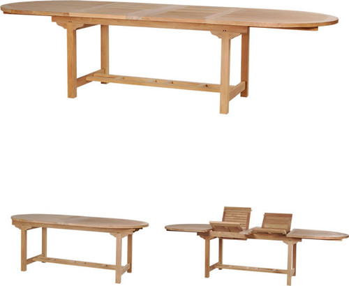 OVAL DBL EXTENSION TABLE 117