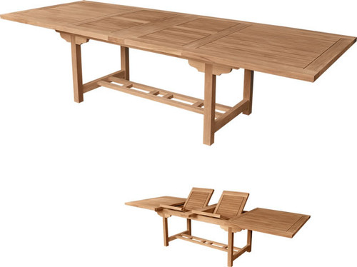 RECTANGULAR DBL EXTENSION TABLE 117 - XX