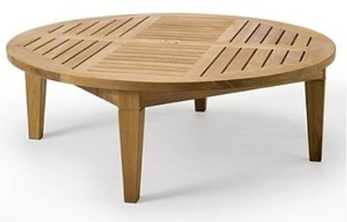 TEAK ROUND COFFEE TABLE 46