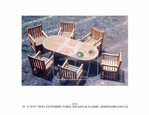 CLASSIC TEAK DINING SET (6-seat)