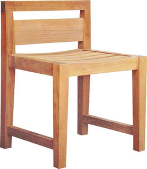 contemporary teak dining chair.