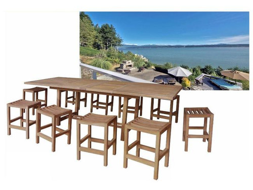 RAVEN TEAK DINING SET (new counter height)