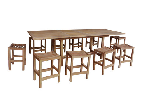 RAVEN TEAK DINING SET (counter height)