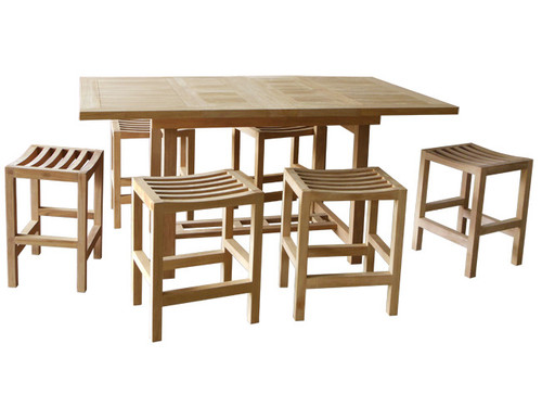 WINTERVILLE TEAK DINING SET (counter height)