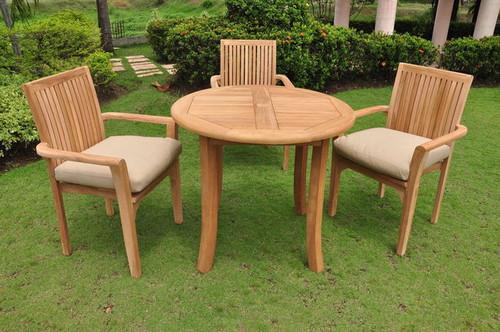 RIO TEAK DINING SET (4 seat) - I