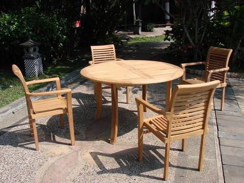 OCEAN TEAK DINING SET (4 seat) - II