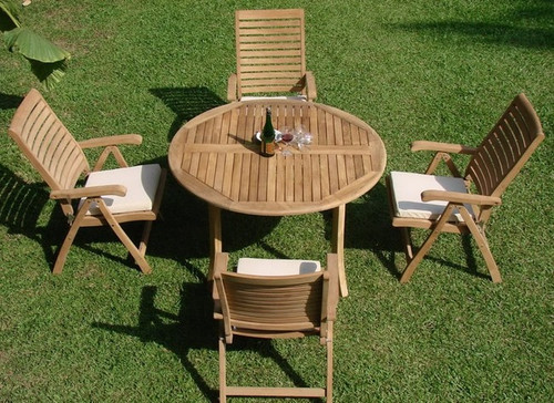 FONTAINE ROUND TEAK DINING SET