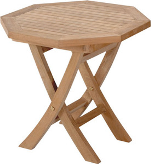 OCTAGONAL FOLDING SIDE TABLE