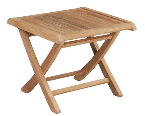 economical teak folding side table