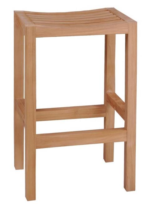 modern contemporary teak stool