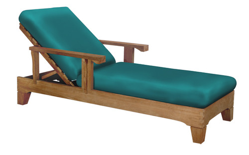 S&H CHAISE LOUNGER w/ THICK CUSHIONS