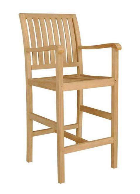 New Aspen Bar Arm Chair - Made From Teak