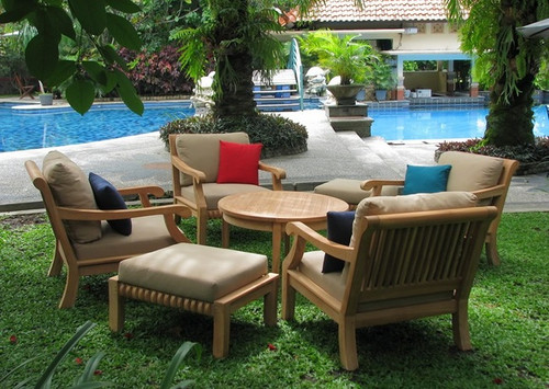 (5pc) KUTA TEAK CLUB CHAIR SET - I