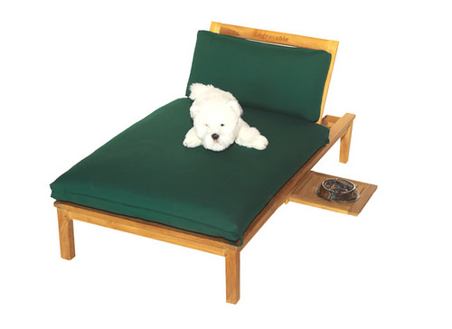 child size teak chaise lounger