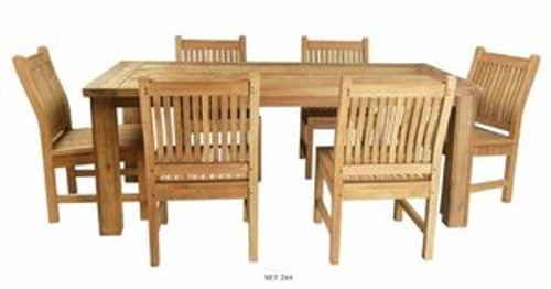WILMINGTON TEAK DINING SET (6 seat) - out of stock