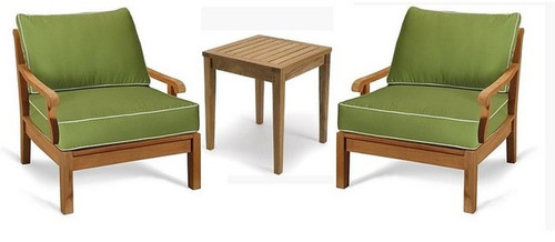 (3pc) KODRA TEAK CLUB CHAIR SET