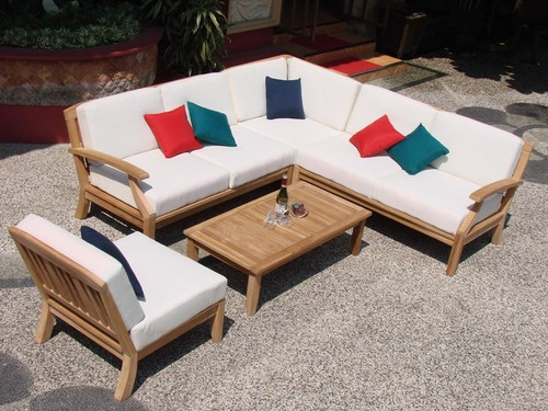 L Shaped Teak Sectional Set