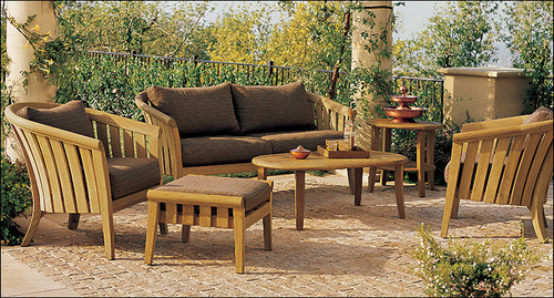 6pc Teak Royal Set With Sofa and Chairs