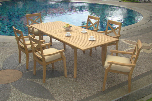 DARDANELLE TEAK DINING SET - RECTA