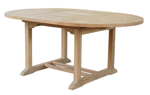 ROUND-OVAL EXTENSION THICK TOP TABLE  - X
