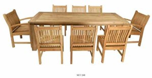 CRISTO TEAK DINING SET (8-seat) - IV